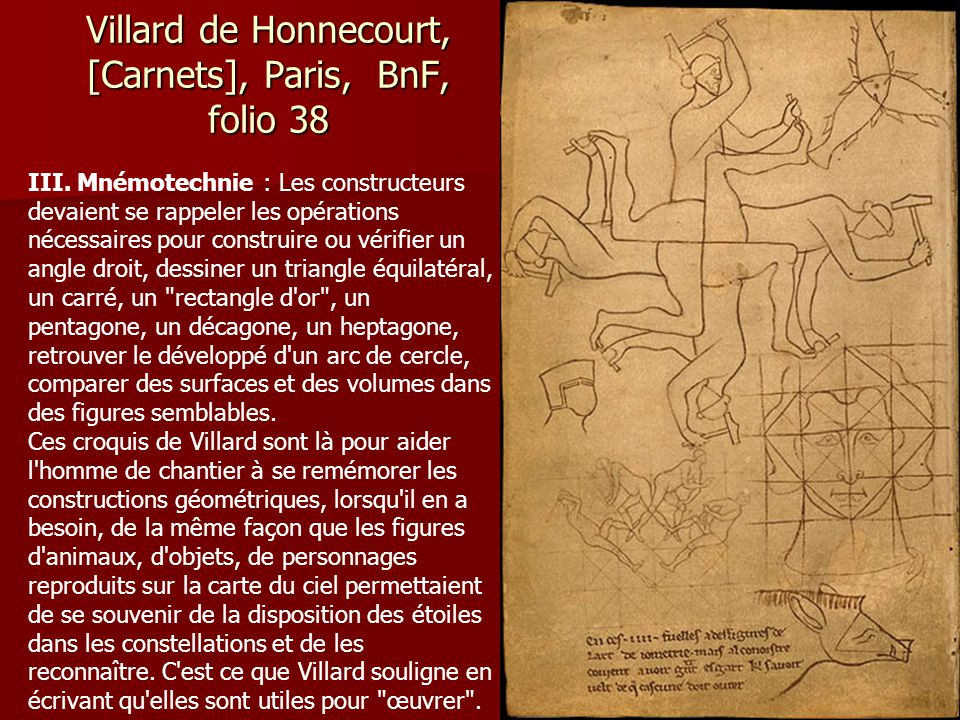 Villard de Honnecourt, [Carnets], Paris, BnF, folio 38